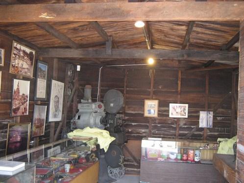 inside walt's garage