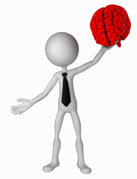 man hold brain