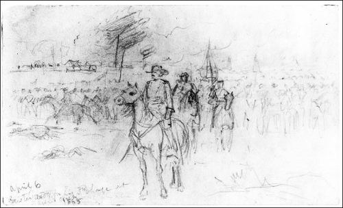 Custer ready for his 3rd charge at Sailors Creek 1865