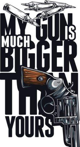 vector-t-shirt-design-with-gun
