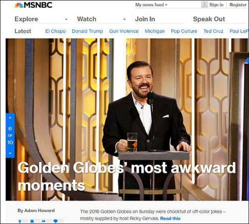 MSNBC DOIWN THE TUBES
