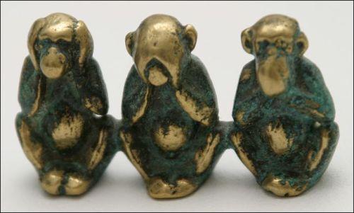 Three_wise_monkeys_figure-Public Domain