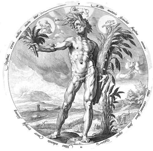 Allegory of Summer, 1589 by Jacob Matham after Hendrick Goltzius PD