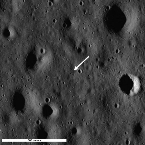 Apollo 11 Image captured by the Lunar Reconnaissance Orbiter Camera (LROC) between July 11 and 15, 2009