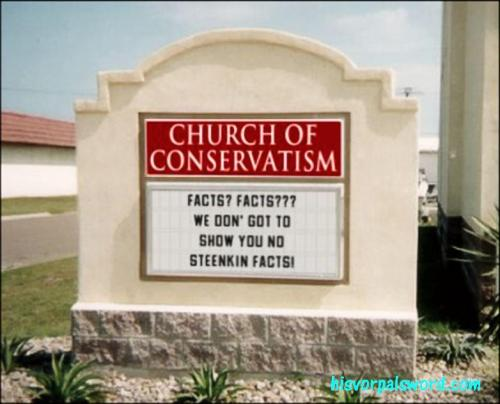 church of conservatism facts we don got to show
