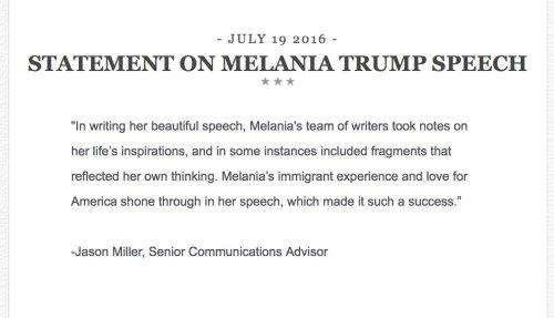 official campaign plagiarism response