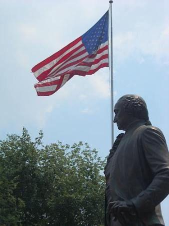 Statue of Washington outside Independence Hall, Philadelphia, Pennsylvania. Photo by Hart Williams© 2008