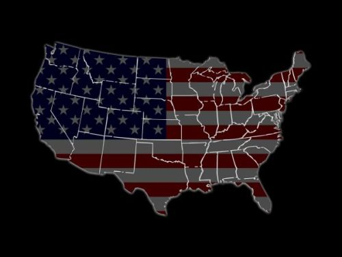 usa map with states borders