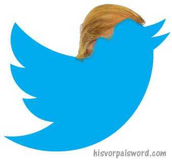 trump twitter bird