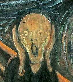 'The Scream' Edvard Muench, detail, PD
