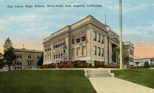 Hollywood High School, 1910 -- Public Domain
