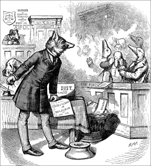 thomas nast the game of fox and geese