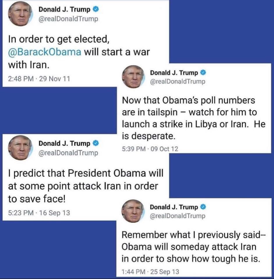 trump war tweets