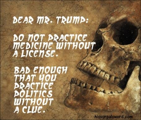 Trump medicine skull clue